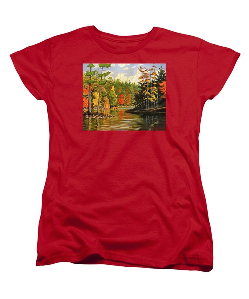 Mink Lake Narrows Women's T-Shirt (Standard Cut) by David Gilmore