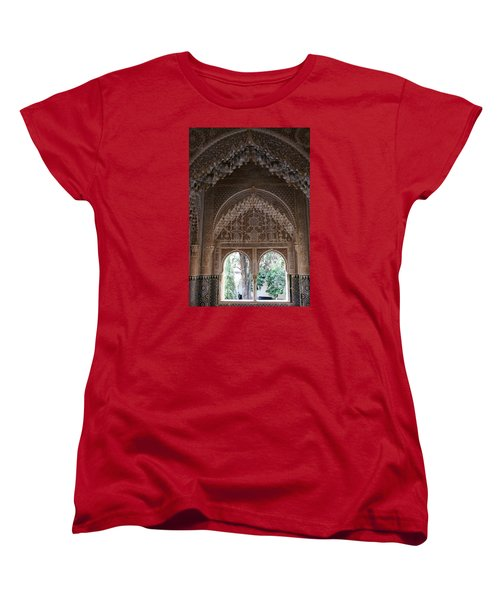Women's T-Shirt (Standard Cut) featuring the photograph Mirador De Daraxa by Christian Zesewitz