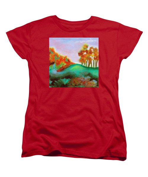 Misty Morning Women's T-Shirt (Standard Cut) by Elizabeth Fontaine-Barr