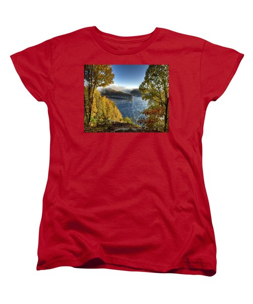 Misty Morning Women's T-Shirt (Standard Cut) by Mark Allen