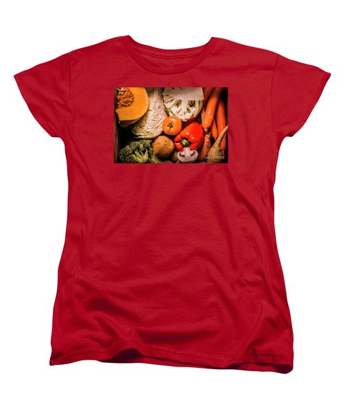 Mixed Vegetable Produce Pack Women's T-Shirt (Standard Cut) by Jorgo Photography - Wall Art Gallery