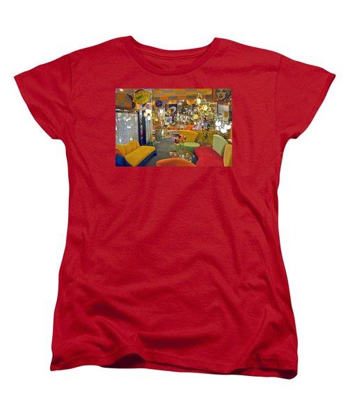 Women's T-Shirt (Standard Cut) featuring the photograph Modern Deco Furniture Store Interior by David Zanzinger