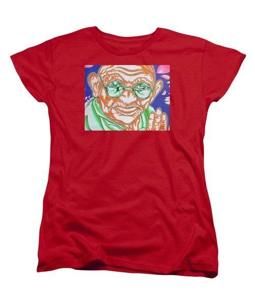 Women's T-Shirt (Standard Cut) featuring the photograph Mohandas Karamchand Gandhi  by Juergen Weiss