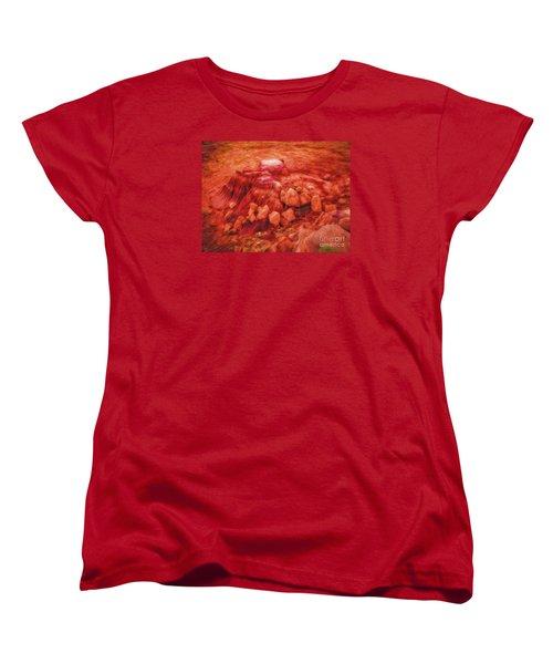 Women's T-Shirt (Standard Cut) featuring the photograph Molten Boulders  ... by Chuck Caramella
