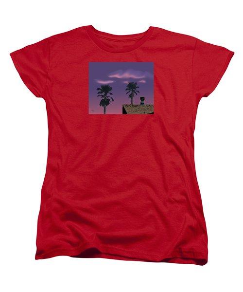 Women's T-Shirt (Standard Cut) featuring the digital art Mom's House by Walter Chamberlain