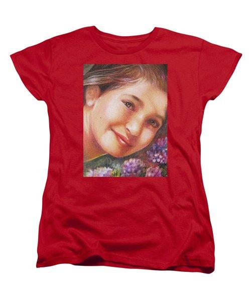Mona Lisa's Smile Women's T-Shirt (Standard Cut)