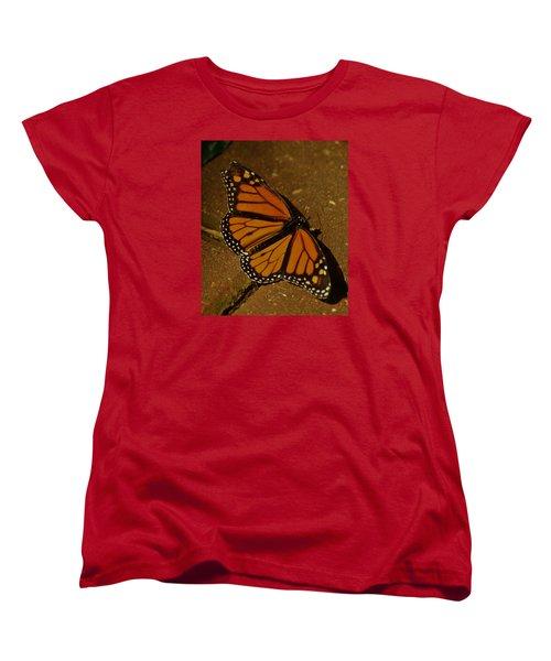 Women's T-Shirt (Standard Cut) featuring the photograph Monarch Butterfly by Ramona Whiteaker