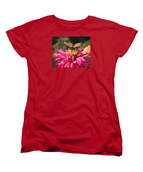 Women's T-Shirt (Standard Cut) featuring the photograph Monarch On The Last Days Of Summer by Ricky L Jones