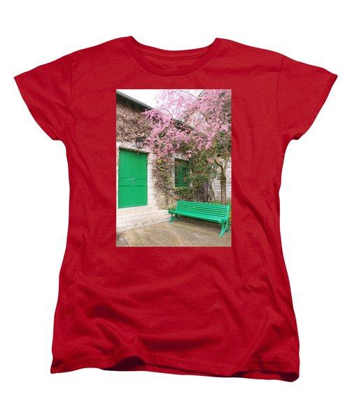 Monet's Bench Women's T-Shirt (Standard Cut) by Catherine Alfidi