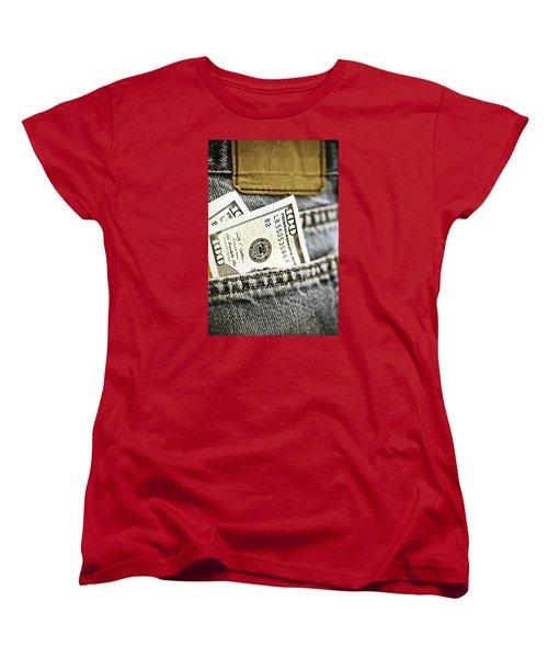 Women's T-Shirt (Standard Cut) featuring the photograph Money Jeans by Trish Mistric