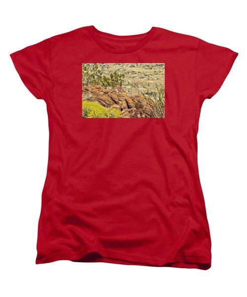 Montezuma Rd Cliff Side Flower Garden Women's T-Shirt (Standard Cut)