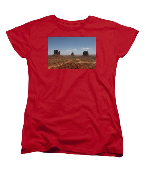 Monument Valley Navajo Park Women's T-Shirt (Standard Cut) by Christopher Kirby