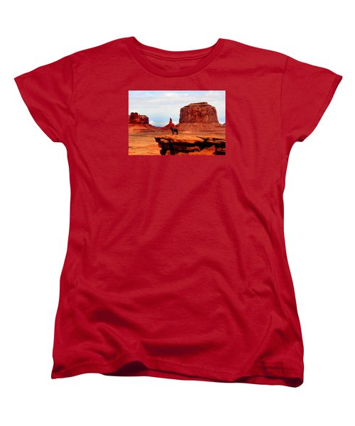 Monument Valley Women's T-Shirt (Standard Cut) by Tom Prendergast