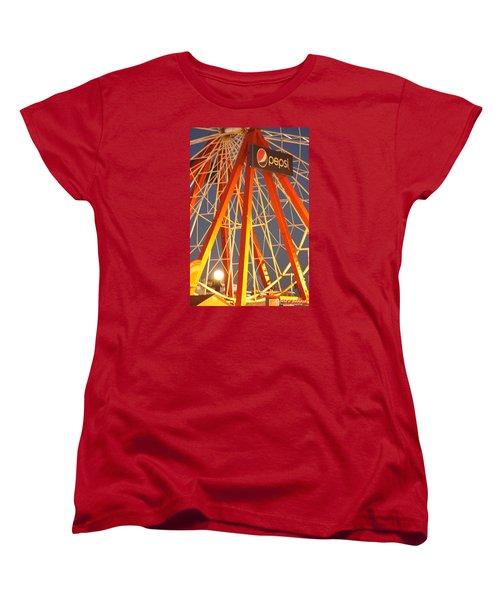 Moon And The Ferris Wheel Women's T-Shirt (Standard Cut)