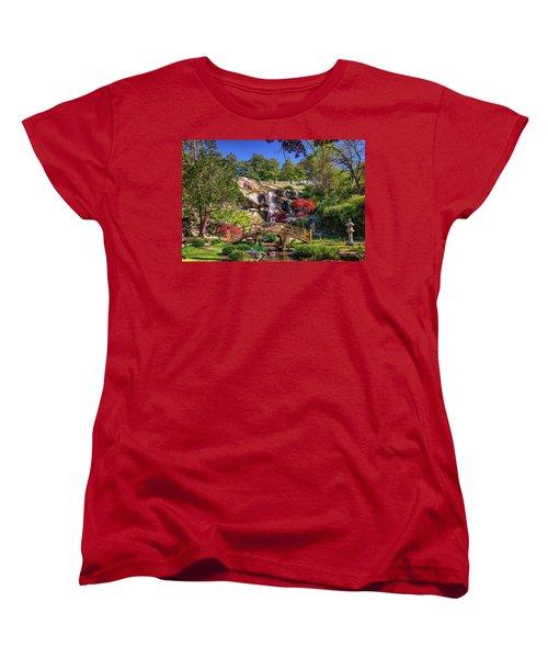 Women's T-Shirt (Standard Cut) featuring the photograph Moon Bridge And Maymont Falls by Rick Berk