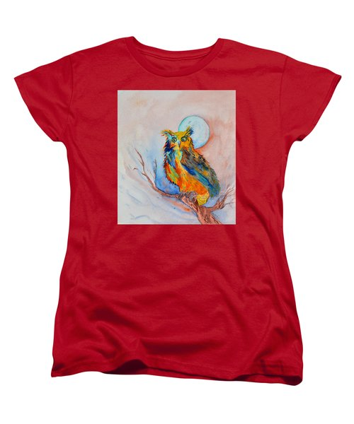 Moon Magic Owl Women's T-Shirt (Standard Cut) by Beverley Harper Tinsley