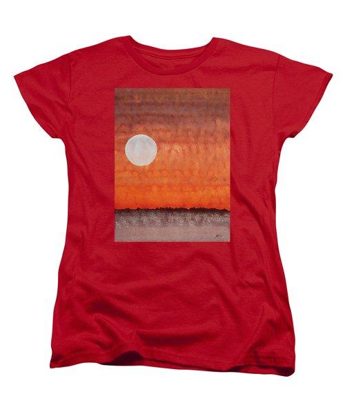 Moon Over Mojave Women's T-Shirt (Standard Cut) by Sol Luckman