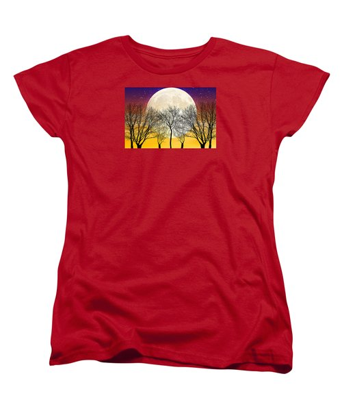 Moonlight Women's T-Shirt (Standard Cut) by Swank Photography