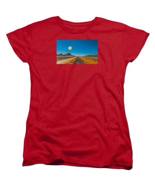 Moonrise Wyoming Women's T-Shirt (Standard Cut) by Don Spenner