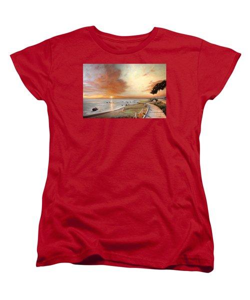 Moonstone Cambria Sunset Women's T-Shirt (Standard Cut)