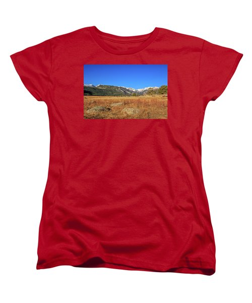 Women's T-Shirt (Standard Cut) featuring the photograph Moraine Park In Rocky Mountain National Park by Peter Ciro
