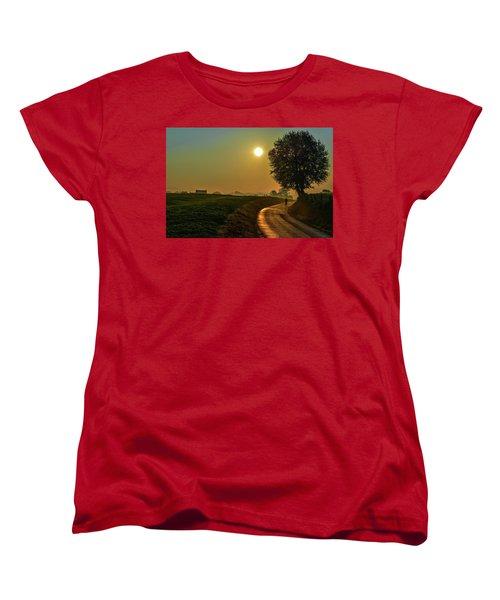 Morning Dew In Color Women's T-Shirt (Standard Cut) by Rainer Kersten