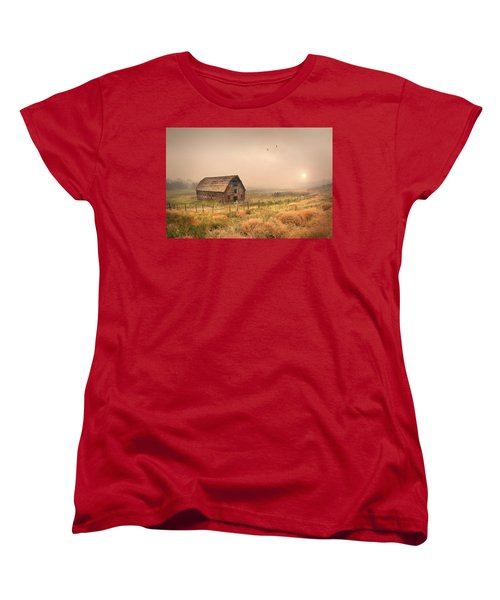 Women's T-Shirt (Standard Cut) featuring the photograph Morning Flight by John Poon