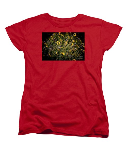 Women's T-Shirt (Standard Cut) featuring the photograph Morning Flowers by Kelly Wade