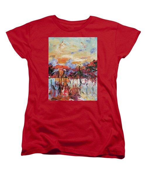 Morning In The Garden Women's T-Shirt (Standard Cut) by Kovacs Anna Brigitta