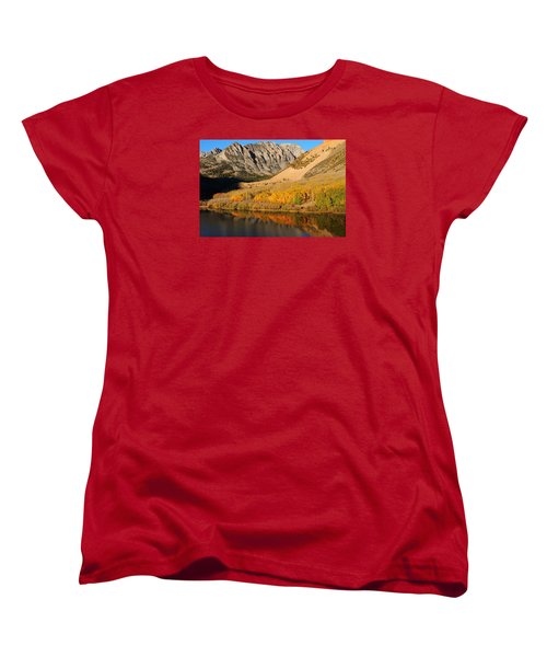 Morning Light At North Lake In The Eastern Sierras Women's T-Shirt (Standard Cut) by Jetson Nguyen
