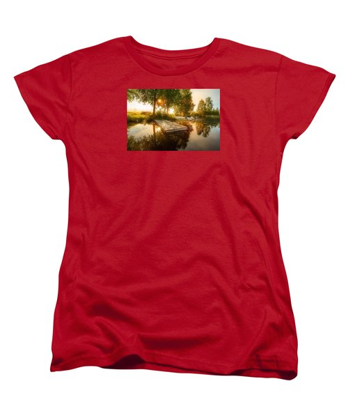 Women's T-Shirt (Standard Cut) featuring the photograph Morning Light by Rose-Maries Pictures