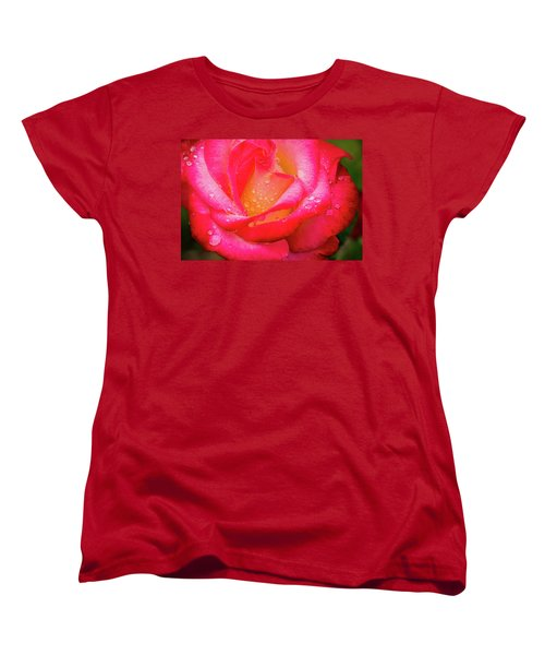 Morning Rose For You Women's T-Shirt (Standard Cut) by Ken Stanback