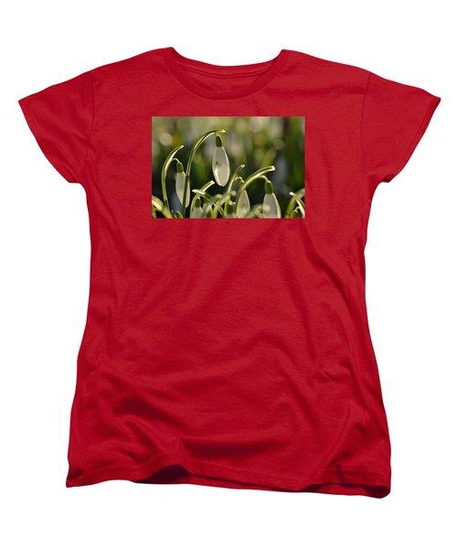 Morning Snowdrops Women's T-Shirt (Standard Cut) by JD Grimes