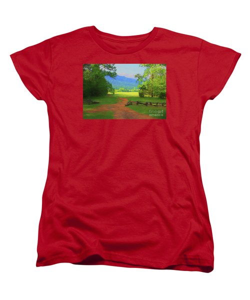 Morning View Women's T-Shirt (Standard Cut) by Geraldine DeBoer