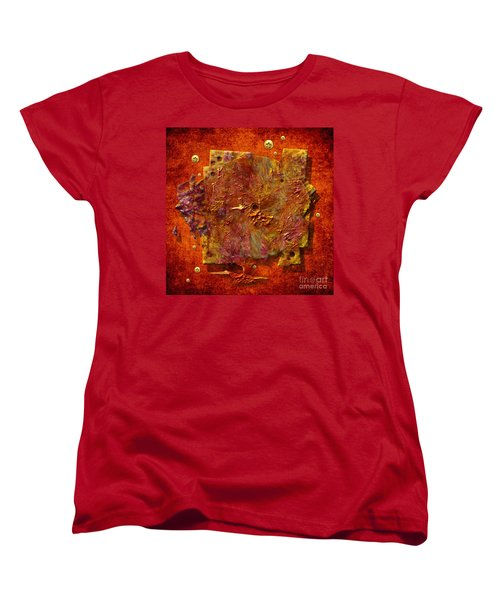 Women's T-Shirt (Standard Cut) featuring the painting Mortar Disc by Alexa Szlavics