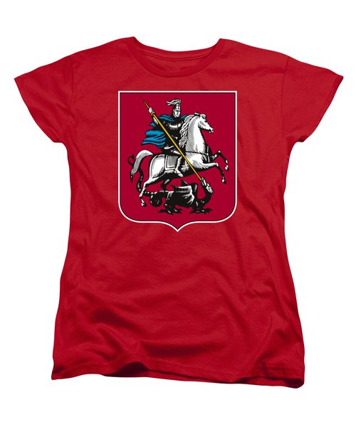 Moscow Coat Of Arms Women's T-Shirt (Standard Cut) by Frederick Holiday