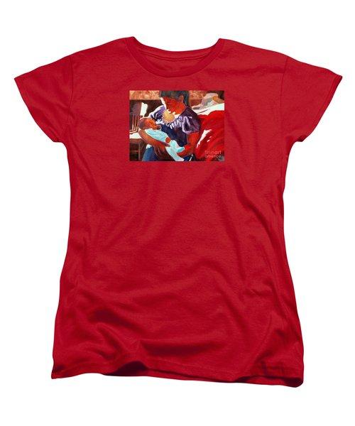 Mother And Newborn Child Women's T-Shirt (Standard Cut) by Kathy Braud