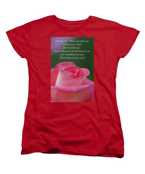 Women's T-Shirt (Standard Cut) featuring the photograph Mother's Day Card 3 by Michael Cummings