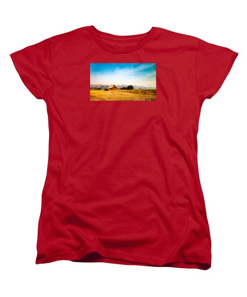 Women's T-Shirt (Standard Cut) featuring the photograph Moulton Barn by Cathy Donohoue