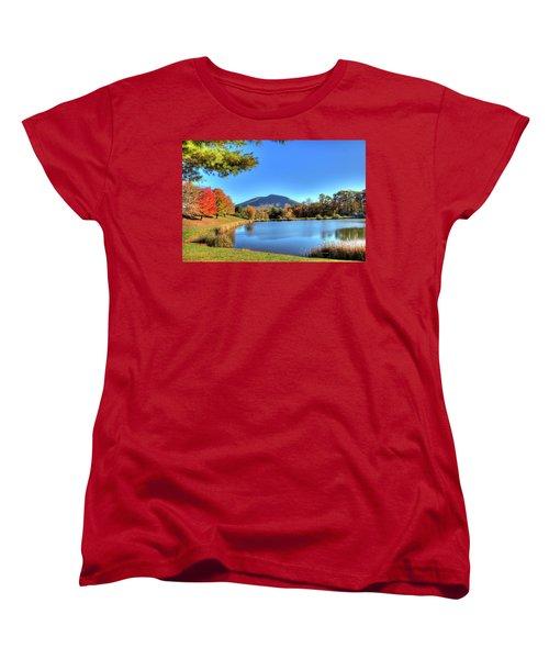 Mount Jefferson Reflection Women's T-Shirt (Standard Cut) by Dale R Carlson