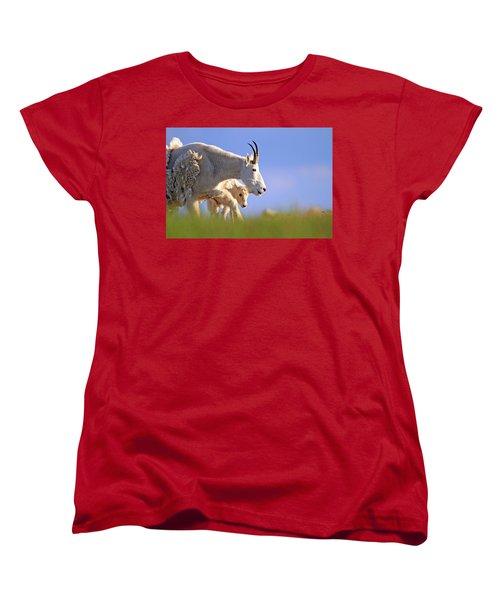 Women's T-Shirt (Standard Cut) featuring the photograph Mountain Goat Light by Scott Mahon