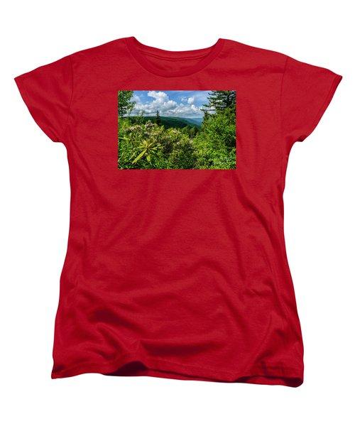 Women's T-Shirt (Standard Cut) featuring the photograph Mountain Laurel And Ridges by Thomas R Fletcher