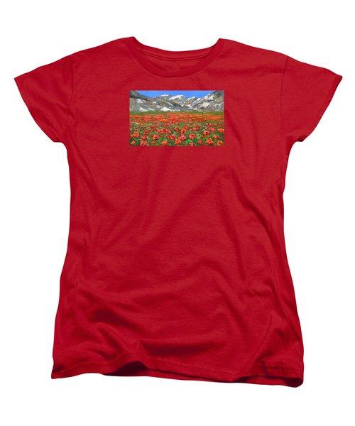 Mountain Poppies   Women's T-Shirt (Standard Cut)