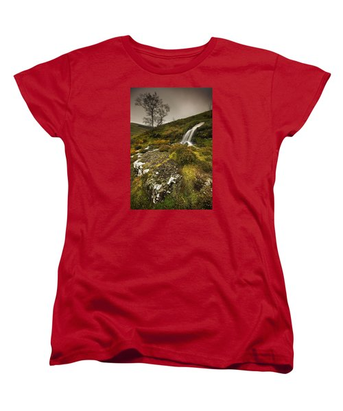 Women's T-Shirt (Standard Cut) featuring the photograph Mountain Tears by John Chivers