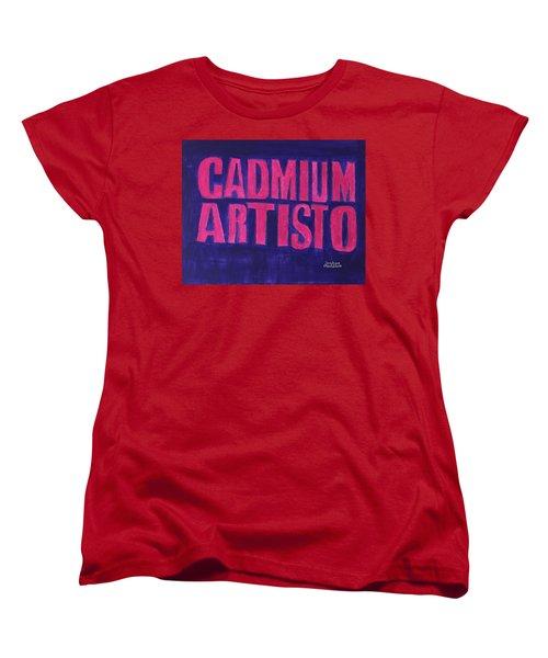 Movie Logo Cadmium Artisto Women's T-Shirt (Standard Cut)