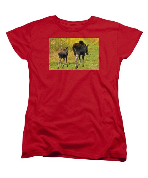 Women's T-Shirt (Standard Cut) featuring the photograph Movin On Down The Road by Sam Rosen