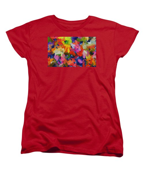 Mr Autumn Meets  Lady Spring - Painting - Wet Paint  Women's T-Shirt (Standard Cut) by Sir Josef - Social Critic -  Maha Art