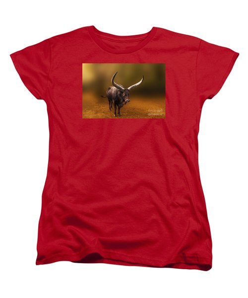 Mr. Bull From Africa Women's T-Shirt (Standard Cut) by Charuhas Images