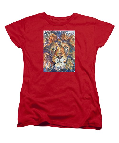 Women's T-Shirt (Standard Cut) featuring the painting Mr Majestic by P Maure Bausch
