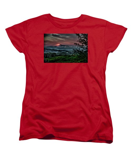 Mt. Etna I Women's T-Shirt (Standard Cut) by Patrick Boening